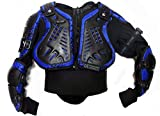 XTRM Kids Body Armour Cub Quad Bike Dirt Pit Bike Off Road ATV Racing Motocross Protective Jacket Junior Mx Gear Full Deflector - CAMO BLUE - Camo Blue - 14 Years