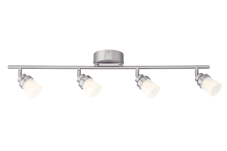 Designers Fountain Evt102027 Brushed Nickel Led Track Lighting Kit With 4 Led Track Lights  Ft Amazon Com