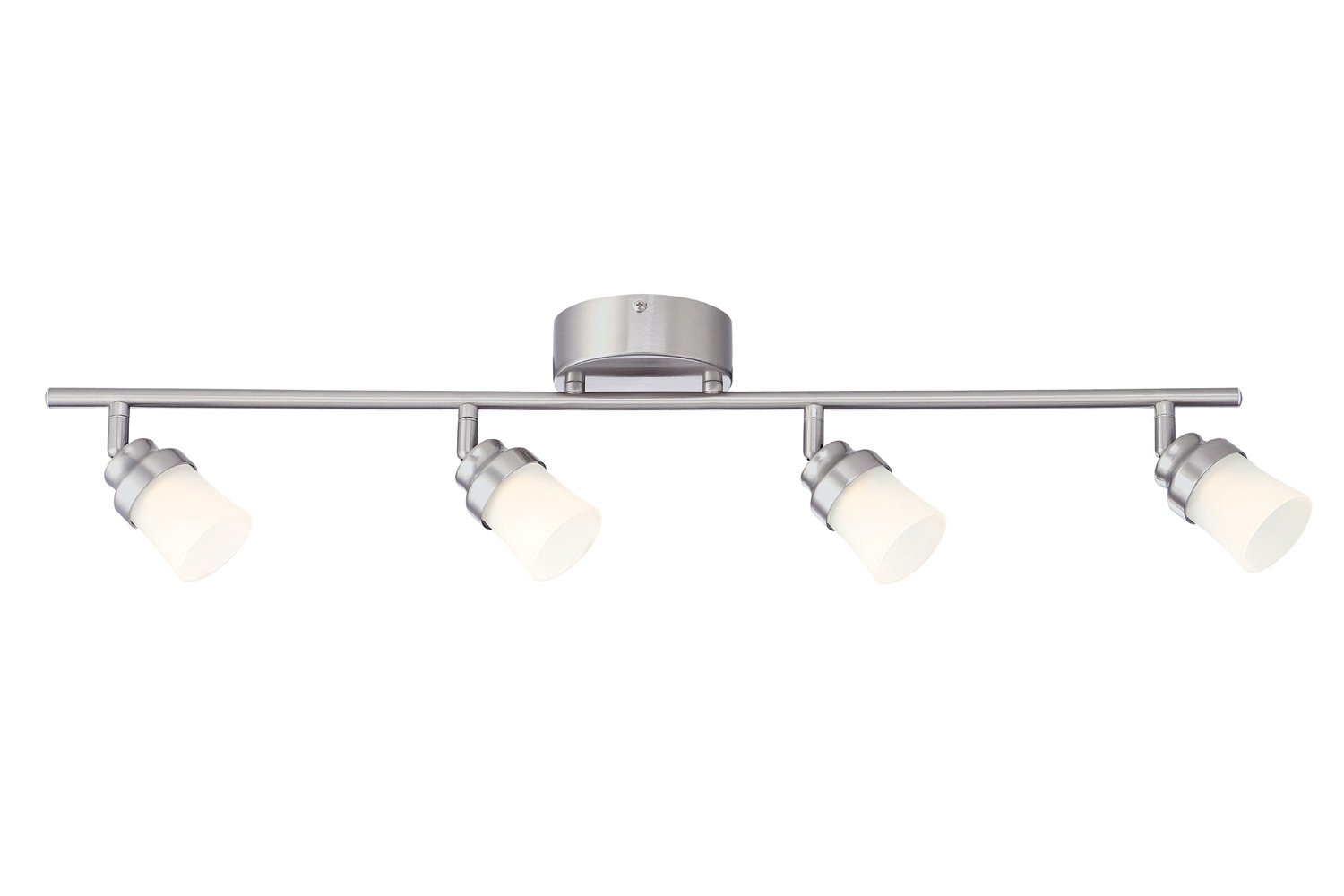 Designers Fountain EVT102027 Brushed Nickel LED Track Lighting Kit with 4 LED Track Lights, 1890 Lumens, 3 ft
