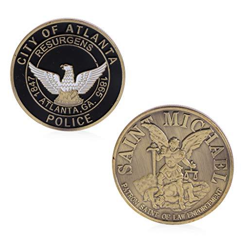Roboco US Mint,Saint Michael Atlanta Police Department Commemorative Challenge Coins Collection Token Art US Mint