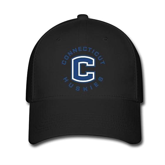 Uconn Huskies C Logo Opeeda Adjustable Baseball Caps Black For Men