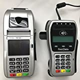 First Data FD-130 Duo Credit Card Terminal and FD-35 PINpad with Wells 350 Encryption and Stand