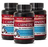 Metabolism accelerator - NATURAL L-CARNITINE 500MG - Vitamin b 6 supplement - 3 Bottle (90 Tablets)