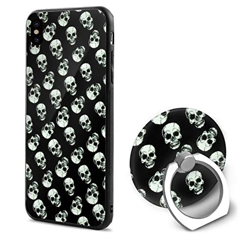 Happy Halloween Skull iPhone X Mobile Phone Shell Shell Ring Bracket Cover Cases ()