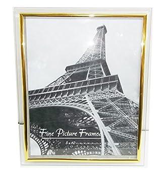 Amazoncom Glass Photo Frame Gold Border 8 X 10
