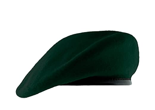 the latest 7648d aef41 Special Forces Green Beret with Leather Pre Shaped (6 1 2 quot )