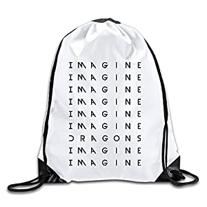 MaNeg Imagine Dragons Gym Drawstring Backpack&Travel Bag