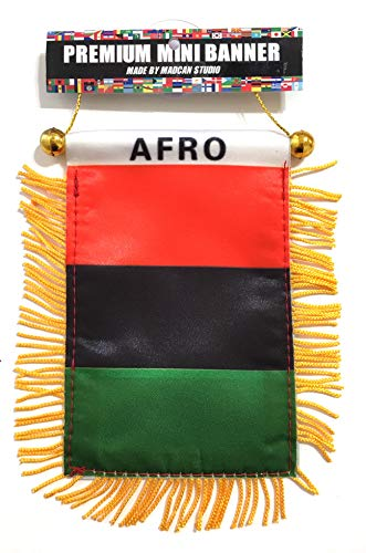 African American Flag for Cars Homes Red Black and Green Pride Small Accessories]()