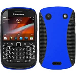 Rubberized Hard Hybrid Case Cover For Blackberry Told Touch 9900/9930 - Blue