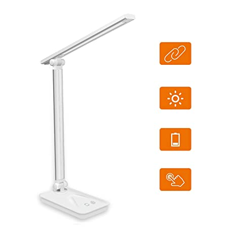 Joytoop - Lámpara LED de mesa plegable y recargable, 5 ...
