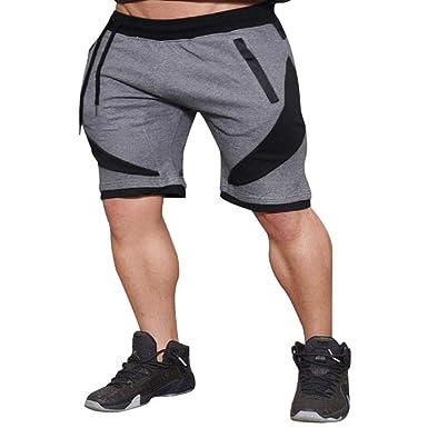 Oliviavan Pantalones cortos de los hombres, Hombres Sport Fitness ...