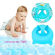 Sealive Child&Baby Inflatable Safety Seat Float Ring Raft Chair Pool Swimming Toy With Handle,Useful&Funny In The Bathtub At Home Blue/Pink,Free Inflator Pump (Blue)