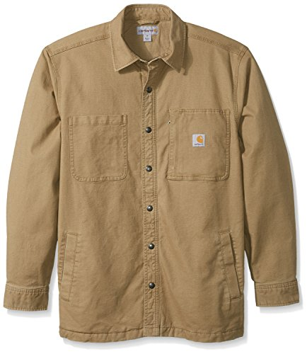 Carhartt Men's Rugged Flex Rigby Shirt Jacket, Dark Khaki, ()