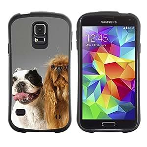 LASTONE PHONE CASE / Suave Silicona Caso Carcasa de Caucho Funda para Samsung Galaxy S5 SM-G900 / The Happy Dog Friends