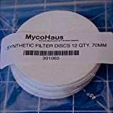 "12 synthetic filter discs 70mm ""regular mouth"" size"