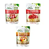 So Natural Freeze Dried Fruit Variety Pack: Apple, Strawberry and Peach 9 Pack Bundle 0.7oz Each