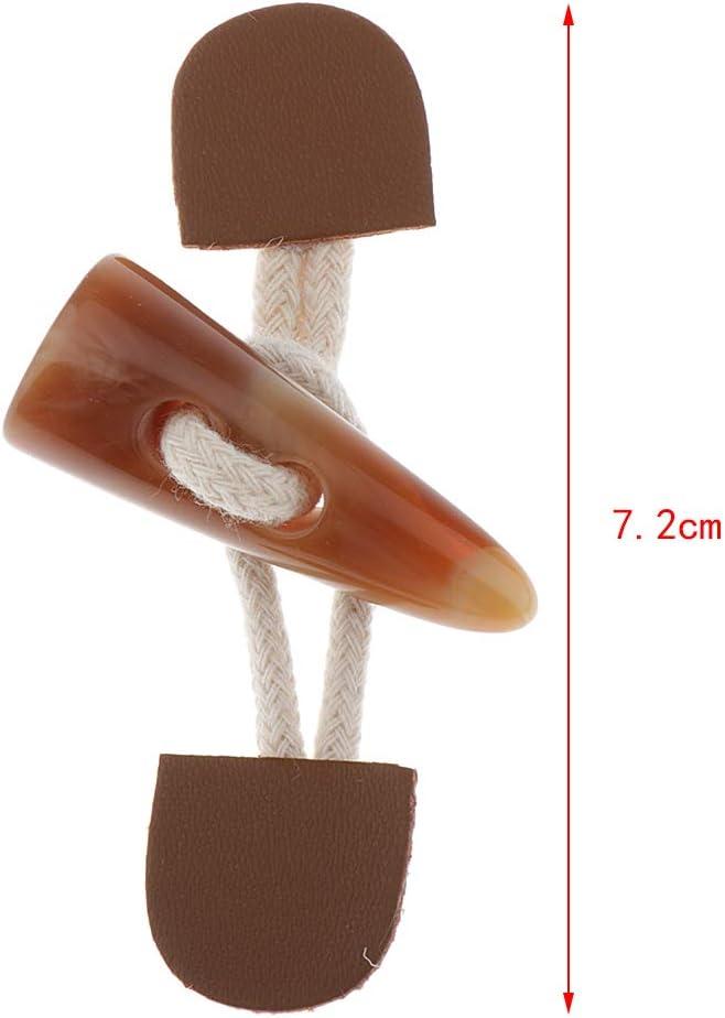 7.2cm Alliage 6 Paires Bouton de Manteau Bouton /à Bascule Bouton Enfant pour DIY Artisanat PU Cuir