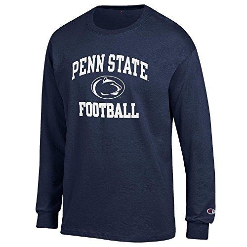Elite Fan Shop NCAA Men's Penn State Nittany Lions Football Long Sleeve T-shirt Team Color Penn State Nittany Lions Navy Small ()