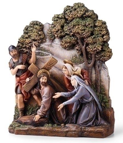 8.25'' Way To Calvary Figure Joseph's Studio Uffizi Collection by Roman by Roman