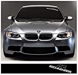 BMW AC Schnitzer windscreen decal 1400mm x 200mm (black Ð white)