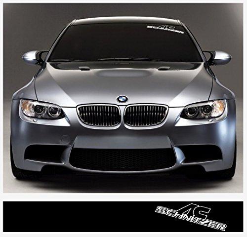 BMW AC Schnitzer windscreen decal 1400mm x 200mm (black Ð white)