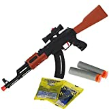 DNA Leisure New to 2018 Kids Children & Adults 2-in-1 Shooting Gel Soft Water Crystal Bullet And Foam Dart Toy AK47 Rifle Gun