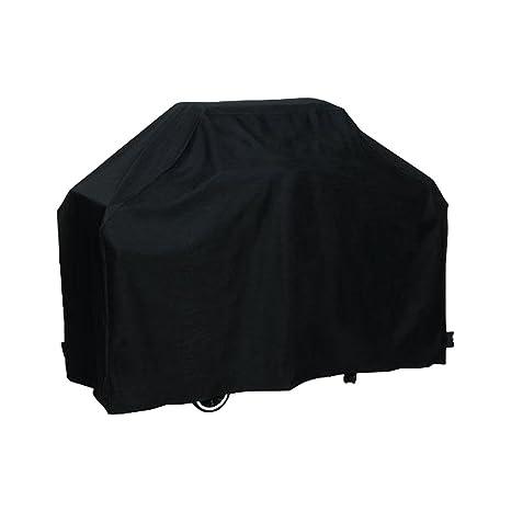 Basong Funda para Barbacoa Rectangular Impermeable Cubierta Protectora de Polvo Lluvia Solar para Sofá Sillas de Exterior 145*61*117cm Color Negro