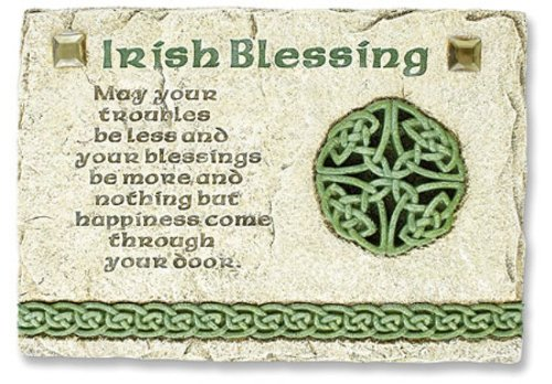 Irish Blessing Wall Plaque - Catholic Irish Wedding