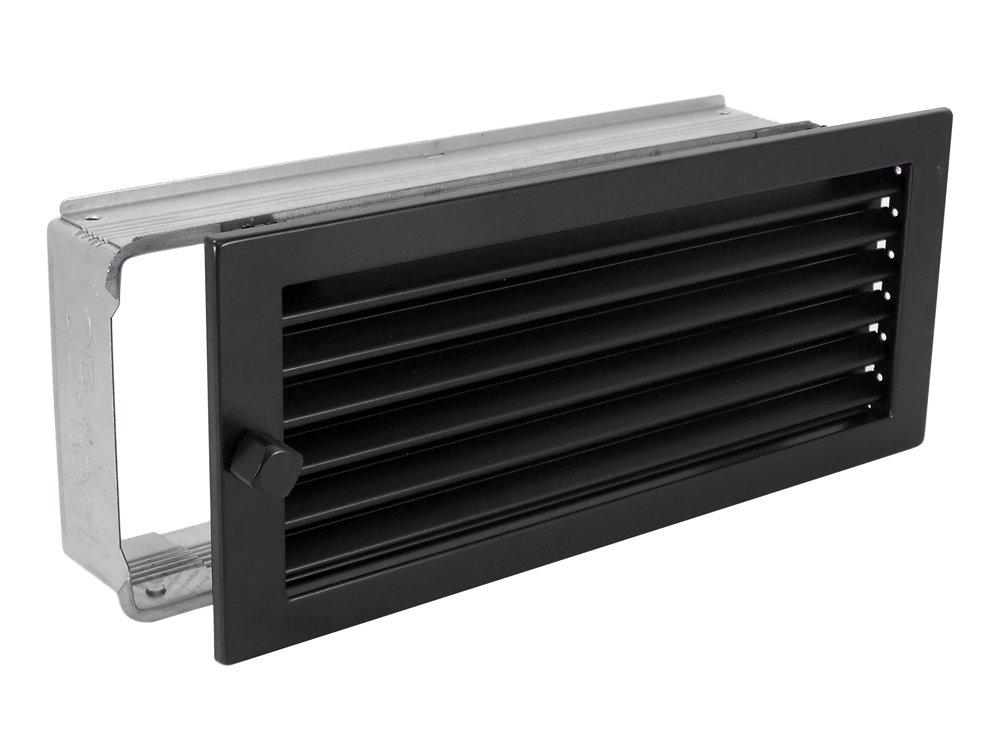 Warmluftgitter Warmluftgitter Warmluftgitter WG 3515 S Schwarz 350 x 150 mm mit Einbaurahmen 68f358