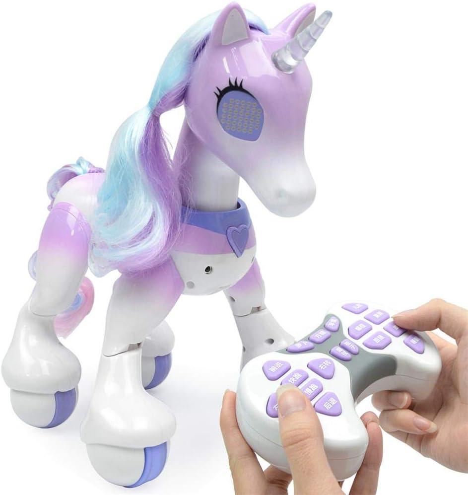 Navigatee Unicornio de Control Remoto (Version En Ingles) - Caballo Eléctrico Inteligente, Mascota Electrónica de Inducción Táctil, Que Incluye Canciones para Niños, Baile, Historias, Programación