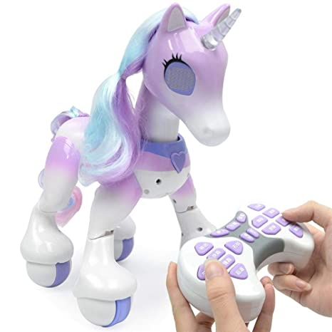 Betfandeful Remote Control Unicorn - Electric Smart Horse, Touch Induction Electronic Pet, Features Include Children's Songs, Dancing, Stories, Sleep, Programming