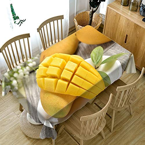 3D Tablecloth Red Cherry Yellow Mango Fruit Pattern Dustproof Dining Table Table Cloth Rectangular Thicken Polyester Table Cover  Color 14 B07SDMJ3YY
