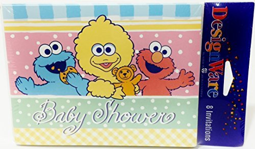 Sesame Street Baby Shower Invitations]()