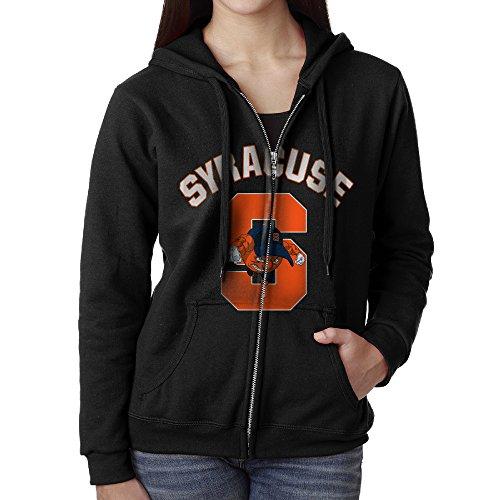 YUNIEFA Women's Syracuse University Full Zip Hoodie Jackets Black Size XL