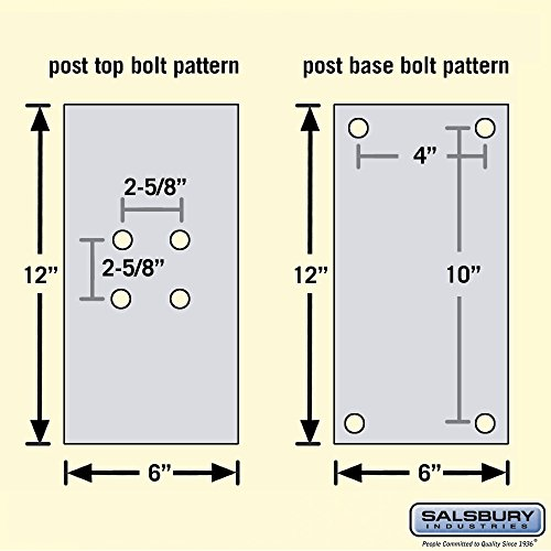 Salsbury Industries 4765BLK Post Bolt Mounted Mail House, Black by Salsbury Industries (Image #2)