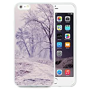 New Beautiful Custom Designed Cover Case For iPhone 6 Plus 5.5 Inch With Winter Path Trees Landscape (2) Phone Case