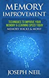 Memory Improvement: Techniques To Improve Your Memory & Learning Speed Today - Memory Hacks & More! (Super Learner, Memory Hacks, Improve Productivity, Memory, Brain Games, Nootropics)