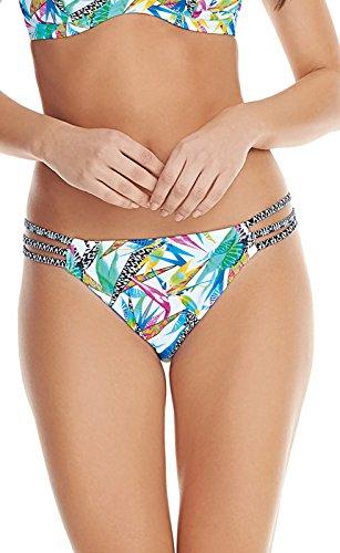 Freya Tropicool Rio String Bikini Bottom, M, Abstract Floral -