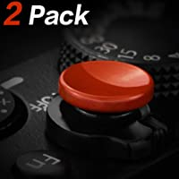 Soft Shutter Release Button (2 Pack/Red) High-end Concave Camera Shutter Button