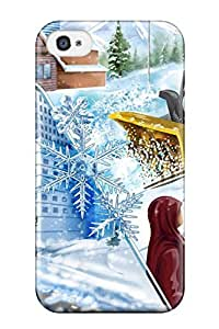 Excellent Iphone 4/4s Case Tpu Cover Back Skin Protector Winter Holliday Vector Digital Design Fun Kids Jackets Dresses Shoes Vacations Season Coats Fall Flo Nature Winter