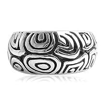 Epinki 925 Sterling Silver Punk Rock Vintage Gothic Personalized Totem Ring for Men
