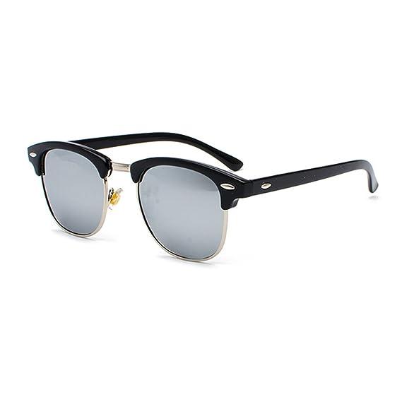 9ab13ad935 Huicai Mujeres hombres Gafas de sol retro Medio marco y lentes polarizados  UV400