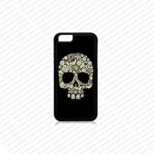 Krezy Case iPhone 6 Case, iPhone 6 case, Floral Skull iPhone 6 Case, Cute iPhone 6 Case, Unique iPhone 6 Case by runtopwell
