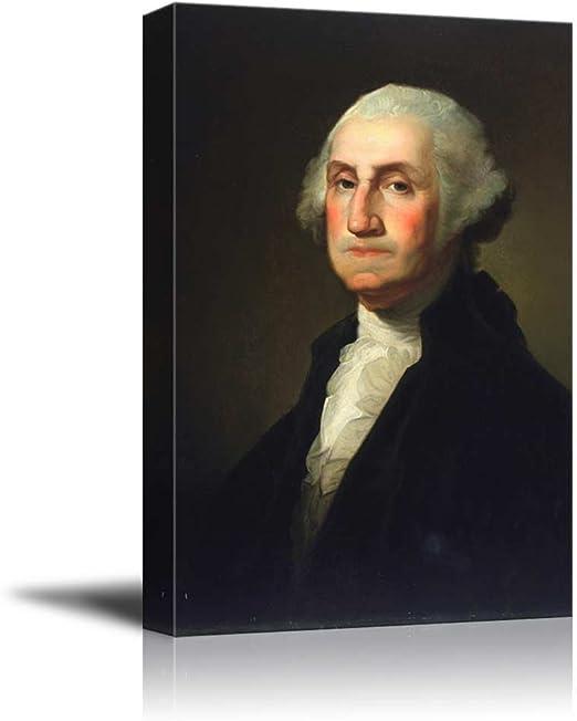 US PRESIDENT JAMES MONROE PORTRAIT PAINTING ART REAL CANVAS GICLEEPRINT STUART