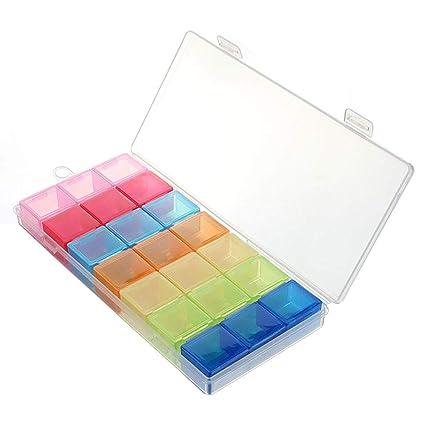 ZDD Almacenamiento portátil de Cajas de medicamentos de Colores, Viajes y distribución de Cajas de