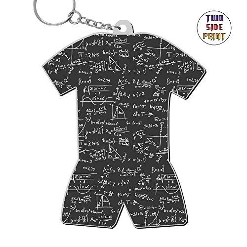 okkeyring Zinc Alloy Car Business Key Chain,Print Useful Formulas,Best Gift for Friends Boys Girls