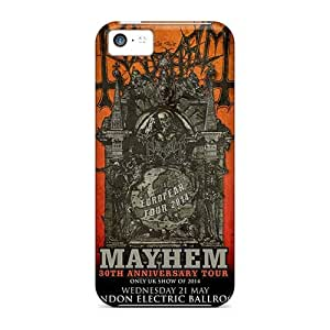 CristinaKlengenberg Iphone 5c Shockproof Hard Cell-phone Case Allow Personal Design HD Machine Head Band Pattern [WPb15021CwLC]