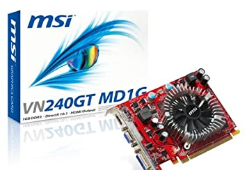 Amazon.com: MSI NVidia GeForce GT240 1 GB DDR3 VGA/DVI/HDMI ...
