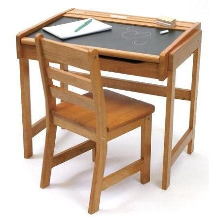 Toy / Game Lipper International Child's Chalkboard Desk And Chair Set, Pecan - Crafted In Durable Beech Wood by 4KIDS by 4KIDS