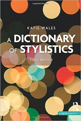 A Dictionary Of Stylistics Pdf